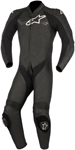 Alpinestars CHALLENGER v2 1-Piece Leather Motorcycle Riding Suit (Black)