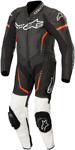Alpinestars Youth GP PLUS CUP Leather Motorcycle Riding Suit (Black/White/Fluo Red)