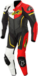 Alpinestars Youth GP PLUS CUP Leather Motorcycle Riding Suit (Black/White/Flo Red/Flo Yellow)