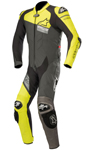 Alpinestars GP PLUS Venom 1-Piece Leather Riding Suit (Black/Yellow/Gray)