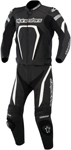 ALPINESTARS MOTEGI Two-Piece Leather Motorcycle Suit (Black/White)
