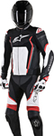 Alpinestars Men's MOTEGI V2 2-Piece Leather Road/Track Riding Suit (Black/White/Red)