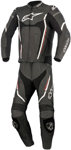 Alpinestars Men's MOTEGI V2 2-Piece Leather Road/Track Riding Suit (Black/Red/White)