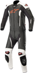 Alpinestars MISSILE 2pc Leather Riding Suit Tech-Air Compatible (Black/White/Red Fluo)