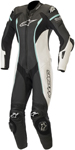 Alpinestars Women's Stella Missile 1PC Race Suit Tech-Air Compatible (Black/White/Teal Blue)