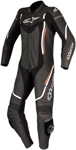 Alpinestars Women's Stella MOTEGI V2 1-Piece Leather Road/Track Riding Suit (Black/White/Red)