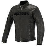 Alpinestars Black Shadow Huntsman Leather Motorcycle Jacket (Black)