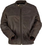 Z1R Indiana Leather Riding Jacket (Brown)