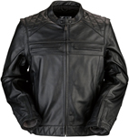 Z1R ORDINANCE 3-in-1 Leather Riding Jacket/Vest (Black)