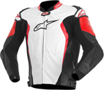 Alpinestars GP TECH Perforated Leather Motorcycle Jacket (White/Black/Red)