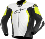 Alpinestars GP TECH Perforated Leather Motorcycle Jacket (White/Black/Yellow)