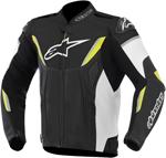 Alpinestars GP-R Leather Motorcycle Jacket (Black/White/Yellow)