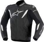 Alpinestars GP-R Perforated Leather Motorcycle Jacket (Black/White)