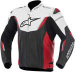 Alpinestars GP-R Perforated Leather Motorcycle Jacket (White/Black/Red)