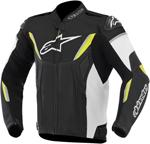 Alpinestars GP-R Perforated Leather Motorcycle Jacket (Black/White/Yellow)