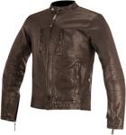 Alpinestars OSCAR BRASS Vintage-Look Leather Motorcycle Jacket (Brown)