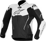 Alpinestars Atem Leather Road/Track Motorcycle Jacket (Black/White)