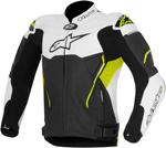 Alpinestars Atem Leather Road/Track Motorcycle Jacket (Black/White/Yellow)