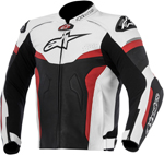 Alpinestars 2016 CELER Leather Riding Jacket w/ Speed Hump (Black/White/Red)