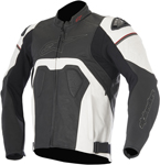Alpinestars 2016 CORE AIRFLOW Leather Road/Track Riding Jacket (Black/White)