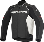 Alpinestars 2016 DEVON AIRFLOW Leather Road/Track Riding Jacket (Black/White)
