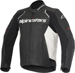 Alpinestars 2016 DEVON Leather Road/Track Riding Jacket (Black/White)