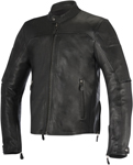 Alpinestars 2016 BRERA Leather Street Motorcycle Jacket (Black)