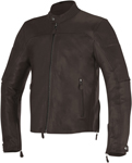 Alpinestars 2016 BRERA Leather Street Motorcycle Jacket (BROWN)