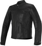 Alpinestars 2016 BRERA AIRFLOW Leather Street Motorcycle Jacket (Black)