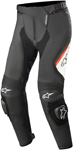 Alpinestars MISSILE v2 Airflow Leather Riding Pants (Black/White/Fluo Red)