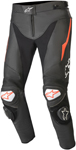 Alpinestars TRACK v2 Leather Riding Pants (Black/Fluo Red)