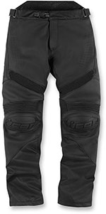 ICON HYPERSPORT Leather/Textile Motorcycle Pants (Stealth/Black)