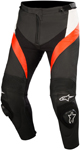 Alpinestars MISSILE Leather Motorcycle Riding Pants (Black/White/Fluo Red)