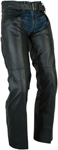 Z1R Men's SABOT Leather Motorcycle Riding Chaps (Black)