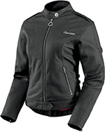 ICON Ladies Hella Leather Motorcycle Jacket (Black)