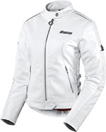 ICON Ladies Hella Leather Motorcycle Jacket (White)