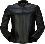 Z1R Women's 22 Leather Motorcycle Riding Jacket (Black)