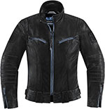 ICON 1000 FAIRLADY Leather Motorcycle Riding Jacket (Black)