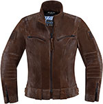 ICON 1000 FAIRLADY Leather Motorcycle Riding Jacket (Brown)