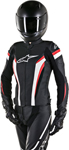 Alpinestars Stella GP PLUS R V2 Airflow Perforated Leather Jacket (Black/White/Red)