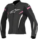 Alpinestars Stella GP PLUS R V2 Airflow Perforated Leather Jacket (Black/White/Pink)