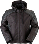 Z1R CONQUERER Textile/Leather Riding Jacket (Black)