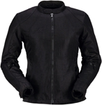 Z1R Women's GUST Mesh Riding Jacket w/ Waterproof Liner (Black)