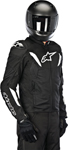 Alpinestars 2015 T-GP R AIR Textile Motorcycle Jacket (Black/White)