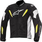 Alpinestars 2015 T-GP R AIR Textile Motorcycle Jacket (Black/White/Yellow)