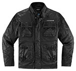 ICON 1000 FORESTALL Textile/Leather Motorcycle Jacket (Black)