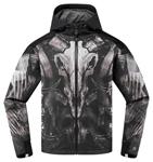 ICON MotoSports MERC CLOVEN Textile Motorcycle Jacket  (Black)