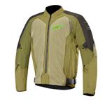 Alpinestars WAKE Air Textile/Mesh Motorcycle Riding Jacket (Black/Green)