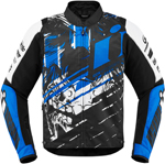 Icon Motosports OVERLORD SB2 STIM Textile Riding Jacket (Blue)
