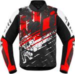 Icon Motosports OVERLORD SB2 STIM Textile Riding Jacket (Red)